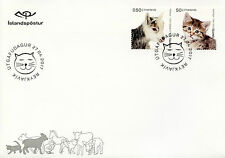 Iceland 2017 FDC Young Domestic Animals Goats Cats Kittens 2v Cover Pets Stamps