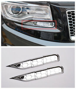 Front Head Light Eyelid Below Decorative Trim for Jeep Grand Cherokee 2014-2016