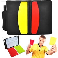 Football Referee Case Yellow Red Card Portable with Pencil 1 Set Soccer Game