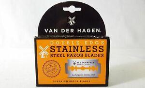 Van Der Hagen Double Stainless Steel Razor Blades 5pcs