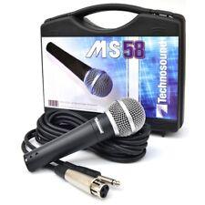 TECHNOSOUND ms 58 microfono professionale +valigetta per karaoke radio speaker