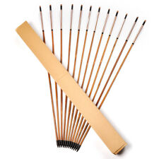 24pcs 80cm  Archery Craftsmans Bamboo Arrows White Turkey Feathers F Recure Bow
