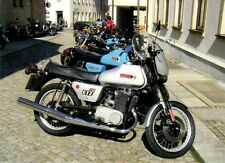"Ansichtskarte: Motorrad MZ ETZ 250 de luxe bei bei ""MZ lebt!"" in Zschopau 2009"