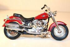 Maisto Harley Davidson 2002 FLSTF Fat Boy Collectible Motorcycle w/ COA #787069