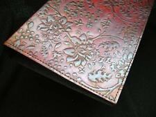 Handmade A5 en cuir pour reliure à anneaux-main-En Relief Chèvrefeuille Design