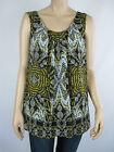 Suzanne Grae Ladies Fashion Sleeveless Top sizes 8 10 14 16 Multi Print