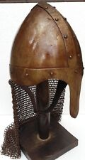 Norman Nasal Chainmail Helmet Antique With liner free helmet stand