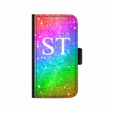 Rainbow Synthetic Leather Mobile Phone Flip Cases