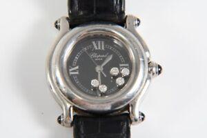 k48c28- Chopard Happy Sport Armbanduhr, 5x Brillant zus. ca. 0,15ct., 5x Saphir