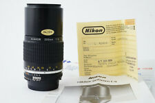 Objectif Nikon Nikkor 200mm F4 Ais - Très Bon Etat