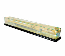 Glass Baseball Bat Display Case Uv Protection Black Wood And Mirror Back