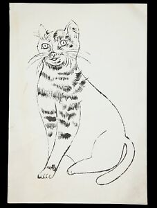 2 PM06 1950s Andy Warhol Rare 25 Cats Name Sam & One Blue Pussy Original Litho
