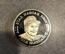 All Star Nascar Driver Dale Earnhardt 999 Fine Silver Art Round One Ounce