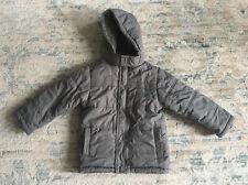 GYMBOREE Boys SNOW DAYS GRAY HOODED PUFFER JACKET Coat Size XS 3-4