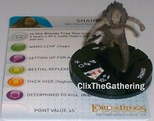 SHARKU #024 Lord of the Rings: The Two Towers LotR HeroClix Rare