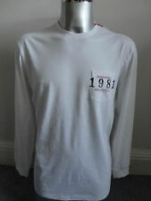 Replay M3390 White L/S pocket t-shirt with back logo print XL