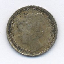 1898 NETHERLANDS SILVER TEN CENTS COIN ORIGINAL GOLD TONED UNCIRCULATED