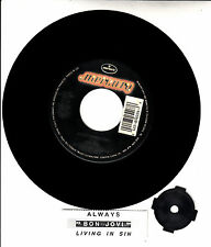 "BON JOVI  Always & Living In Sin 7"" 45 record NEW + juke box title strip RARE!"