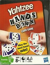 YAHTZEE HANDS DOWN CARD GAME BY HASBRO BRAND NEW AND SEALED CARDS!  YAHTZEE