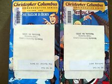 (Lot of 2) Christopher Columbus - A Sailor Is Born & Setting Sail (1992, VHS)