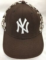 NEW YORK NY YANKEES New Era Brown Baseball Cap HAT Fitted Size 7 1/4