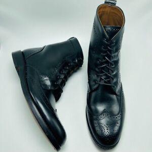 Allen Edmonds Size 8D Black Dalton Leather Wingtip Dress Boots
