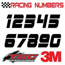 Racing Numbers Vinyl Decals Stickers boat car BMX bike off road  sprint quad pnd