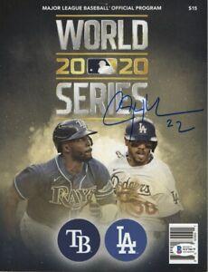 Clayton Kershaw Signed Autographed 2020 World Series Program Dodgers BAS WF10679