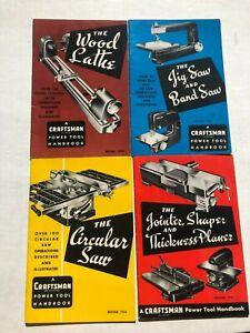 4 Différent 1954 Craftsman Puissance Outil Handbooks- Nice État