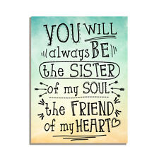 You Will Always Be The Sister Of My Soul Friendship Gift Fridge Magnet 4x3 inch