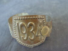 Placca badge bollo 1934