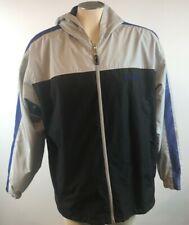 Carnival Cruise Line Jacket Mens Size Large Hooded Grey Blue Large Free Shipping