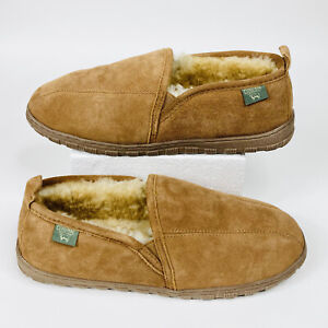 Mens Cloud Nine Sheepskin Soft Sole Bootie Slippers Size 12 Ultra Sherpa Comfy