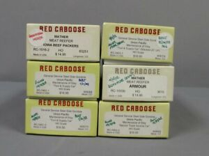 Red Caboose HO Assorted Freight Car Kits [6]/Box