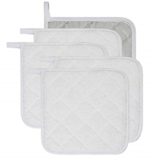 New listing Lifaith 100% Cotton Kitchen Everyday Basic Terry Pot Holder Heat Resistant for 5