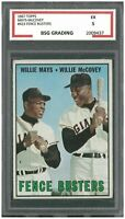 MAYS-McCOVEY 1967 Topps #423 Fence Busters ~ BSG 5