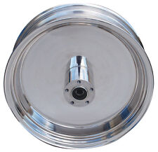 "Ultima Polished Billet Solid 16"" x 3.5"" Rear Wheel for 1986-1999 Harley Models"