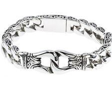 Bracelet Bangle Silver Black 8.66'' 2019 Cool Stainless Steel Mens Wristband