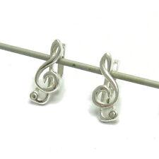 Silber Ohrringe 925 E000487 Violinschlüssel