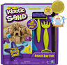 The One and Only Kinetic Sand, Beach Day Fun Playset with Castle Molds, Tools,