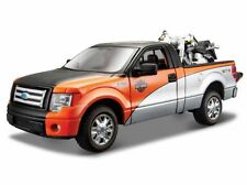 Harley Davidson, Ford F-150 STX Pick Up + 2000 FLSTF Fat Boy, Maisto 1:27