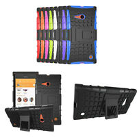 New Hybrid Armor Rugged Hard Case Cover Stand Skin For Nokia Lumia 730 735 Tide