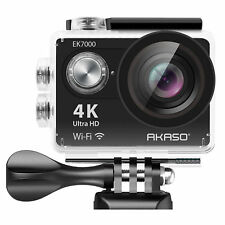 AKASO 4k Sport Action Camera Ultra HD Camcorder 12mp WiFi Waterproof 19 Pcs Kit