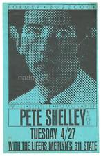 PETE SHELLEY Rare 1982 Madison Handbill Flyer Merlyn's April 27 1982 BUZZCOCKS