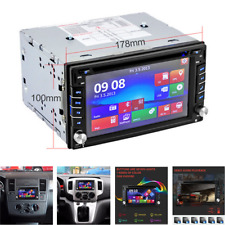 "Double 2 DIN 6.2"" Car Stereo GPS Sat Nav CD DVD Player Radio Bluetooth +Map Card"