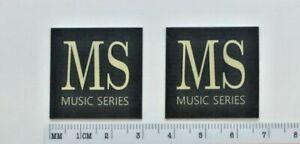 Mordaunt Short Music Series Speaker Badge Logo Emblem Pair Free Shipping