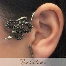 JoliKo Ohklemme Ear cuff Python Schlange Knoten Snake Viper L-XL Unisex LINKS