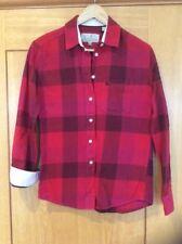 Jack Wills Shirt Ladies Red Check Boyfriend Fit Size 6