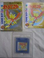 Nintendo Gameboy Color Pocket monsters Gold Pokemon Japan GBC w/box F/S