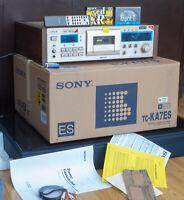 NEW TOP LINE SONY TC-KA7ES METAL DOLBY-S GOLD REMOTE CONTROL 220/240V 3 HD 2 MR
